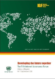 Cover image of the 2010 IGF book