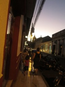 Looking for pizza on the streets of Leon