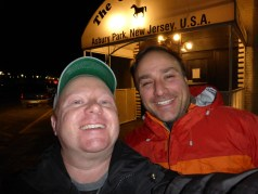 "J-man and I pose for a ""selfie""-style photo on the way out of the Stone Pony"