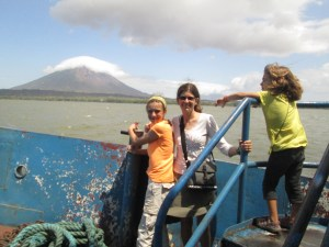 As the ferry rounds the island, the waves calm down and the view of Volcan Concepcion gets even better.