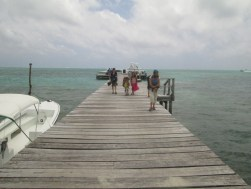 On the dock at Caye Caulker