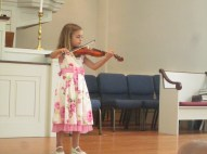 Violin recital went well -- thanks in part to the practicing on the road.