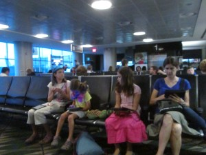 The Kindles came out in force on travel days.