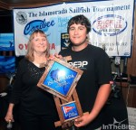 Shawn MacMullin Jr. age 15, from Key Largo, FL fishing aboard the Prime Time for First Place Junior Angler