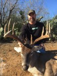 Capt. Andy Moyes holds a nice 10pt he harvested this month. Encinal, Texas.