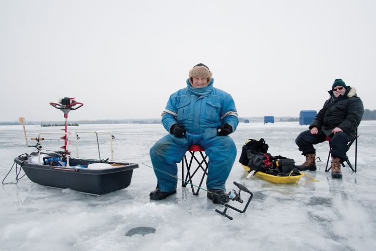 ice fishing lawn chair pictures of chairs in bathrooms on island lake the hills doug papa smurf wallace left has rarely missed a year over