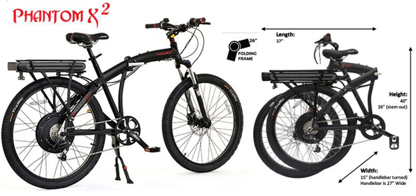 ProdecoTech Phantom X2 V5 26 Folding Electric Bicycle