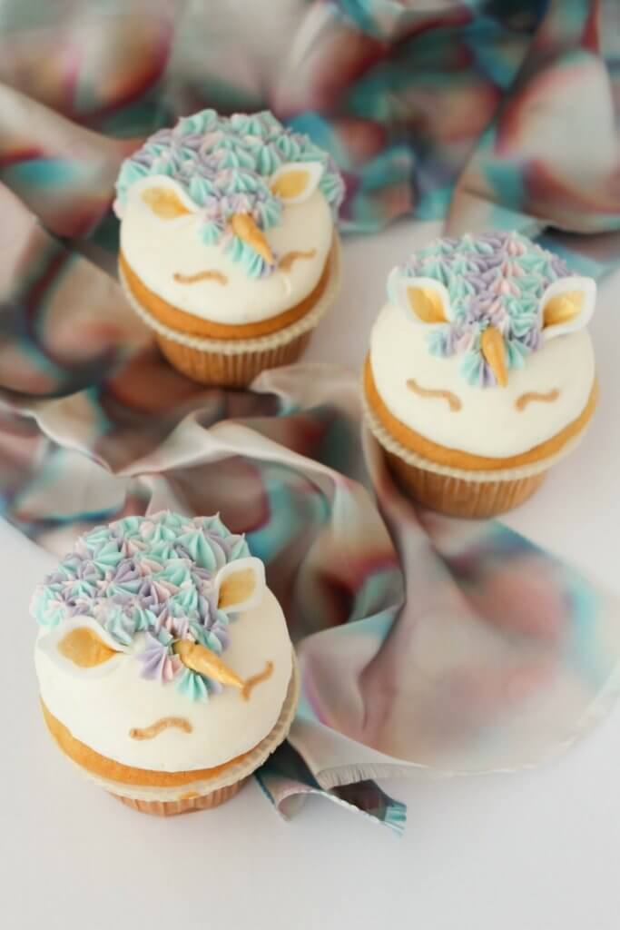 Pastel  Gold Unicorn Cupcakes  In the Kids Kitchen