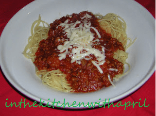 Angel Hair Pasta with Meat Sauce