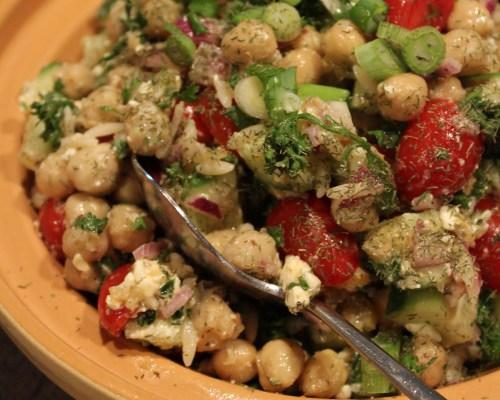 Chickpea Orzo Salad