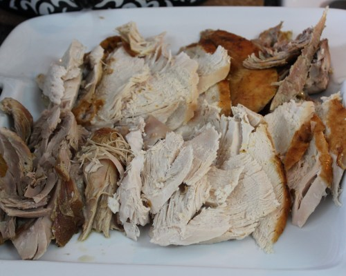 Sliced Moist Tender Roast Turkey