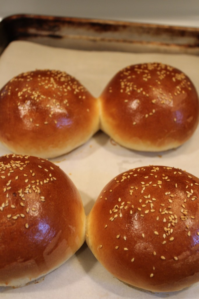 Best Ever Homemade Burger Buns fresh out of the oven