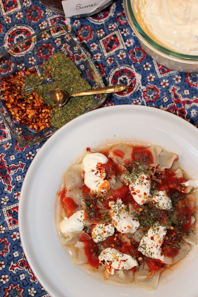Easy Manti with Mint, Red Pepper, Sumac, and Garlic Yogurt