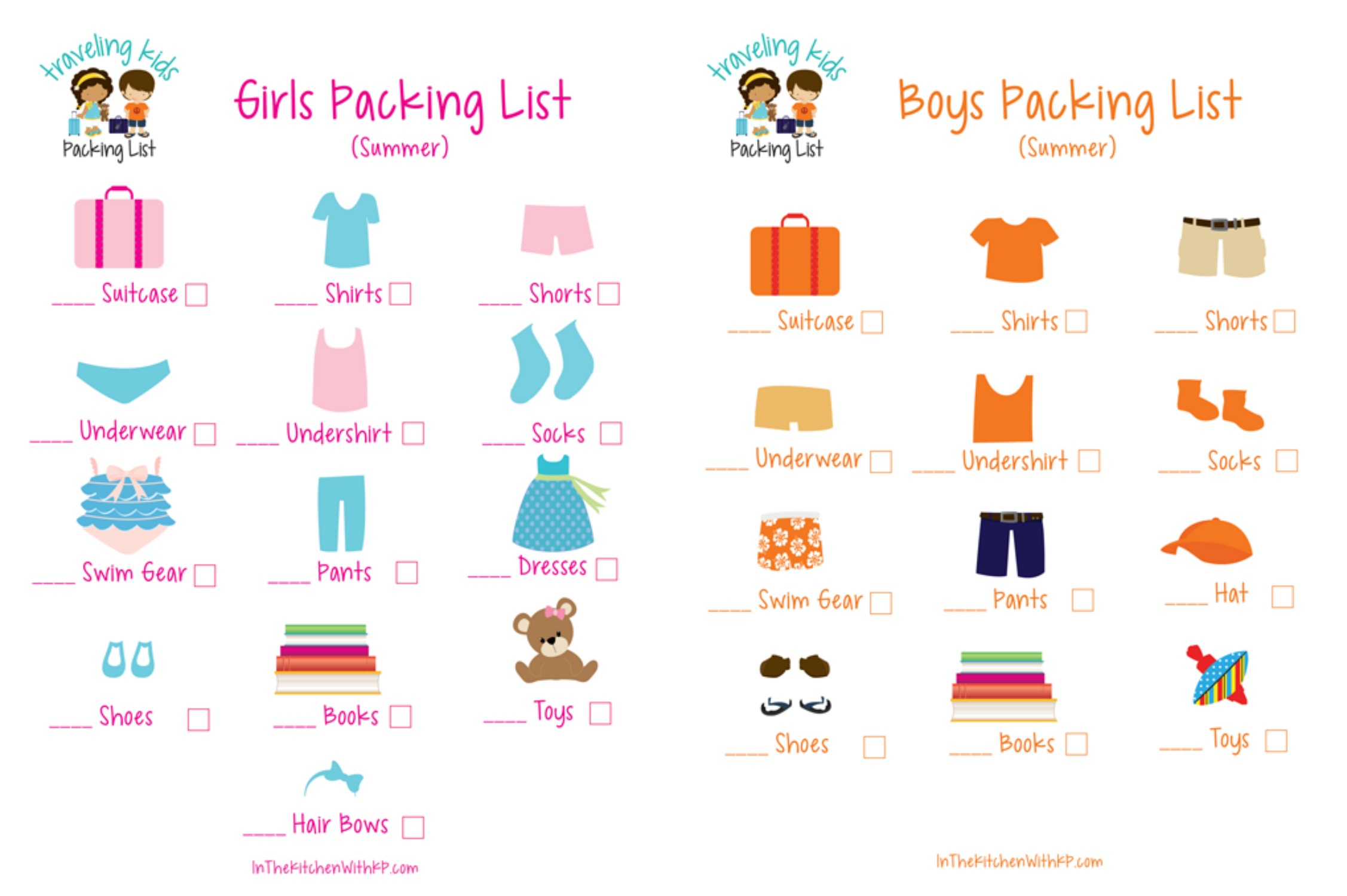 Free Printable Picture Packing List