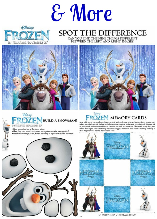Disneys Frozen Activity Printables In The Kitchen With KP