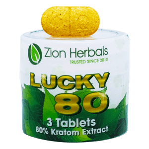 Zion Herbals Lucky 80 Kratom Extract Tablets