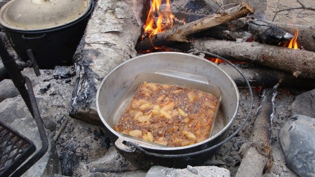 Apple Crisp in Dutch Oven