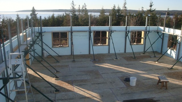 Upstairs Bracing - Ready for the Big Concrete Pour