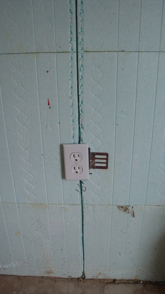Mounted Outlet and Wire Grooves