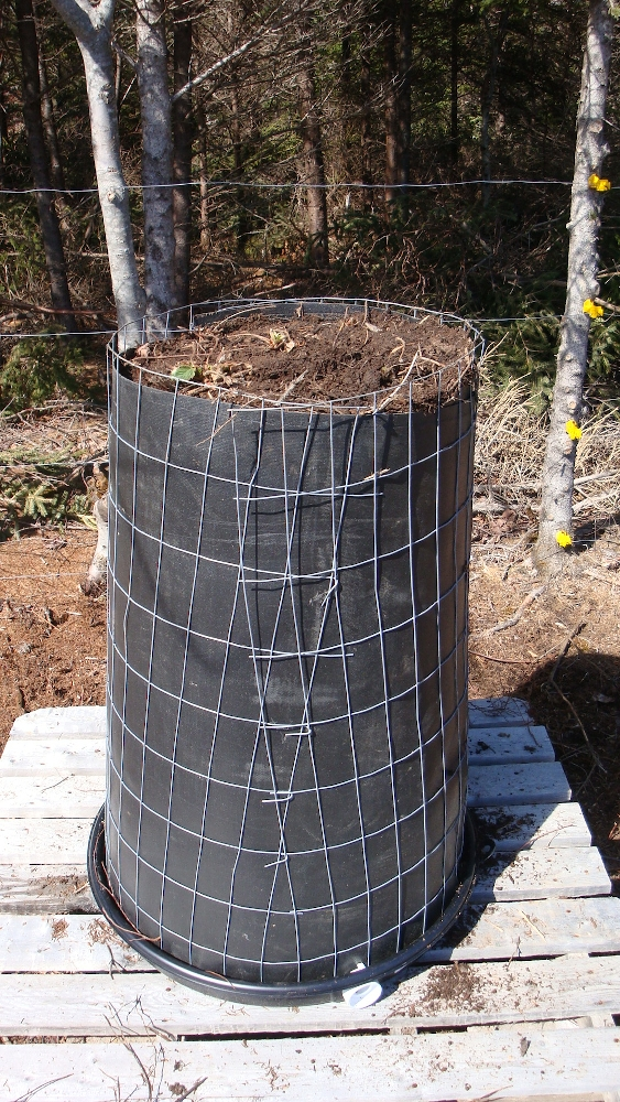 Soil Filled Grow Tower