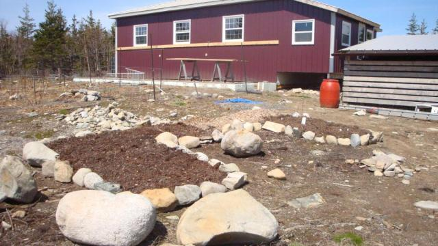 The Start of Nova Scotia Herb Bed