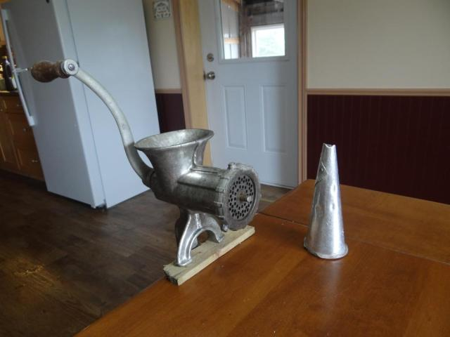 Meat Grinder with Stuffing Cone