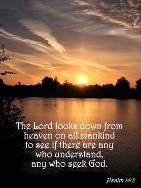 psalm 14 2, know god, know god personally, intimacy with god