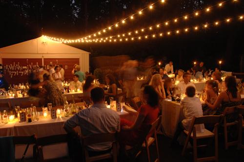 Fall String Lights Wallpaper Weddings Real Weddings Sherry And John S Backyard Diy Wedding