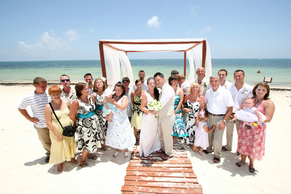 Real Weddings Destination wedding on the beach in Mexico