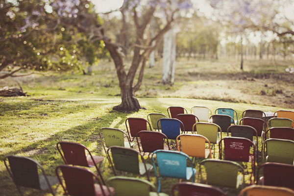 RetroChairs Add Fun and Whimsy to Wedding Decor