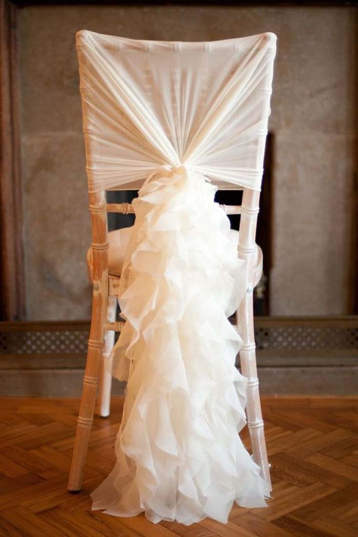 how to make chair sashes wooden adirondack chairs 10 ways add wow your wedding ruffle cover
