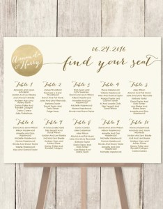 Gold wedding seating chart also perfectly organized charts from etsy intimate weddings rh intimateweddings