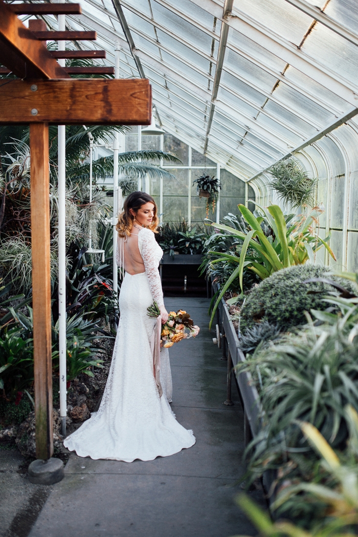 One Year Anniversary Shoot at Iconic Seattle Conservatory  Intimate Weddings  Small Wedding