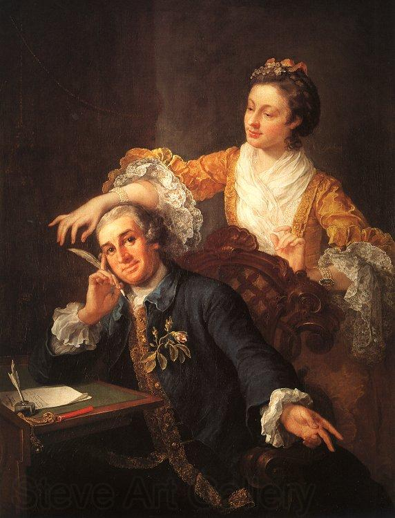 William Hogarth David Garrick and His Wife
