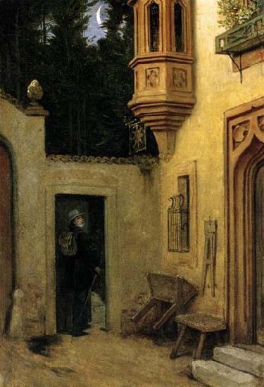 Moritz von Schwind Farewell at Dawn
