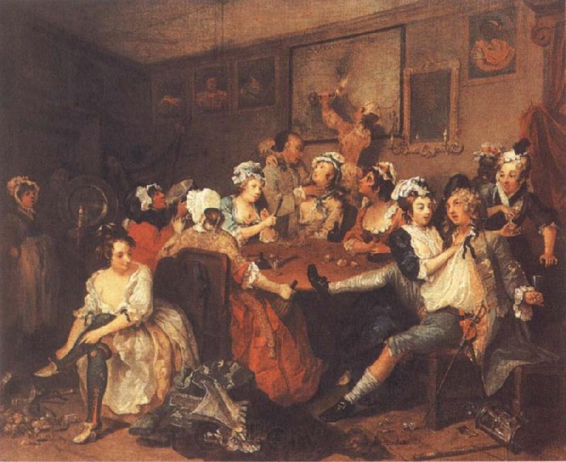 William Hogarth A Rake-s Progress,Tavern Scene