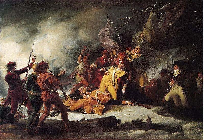John Trumbull The Death of Montgomery in the Attack on Quebec