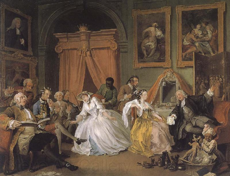 William Hogarth Countess painting fashionable group to get up early marriage