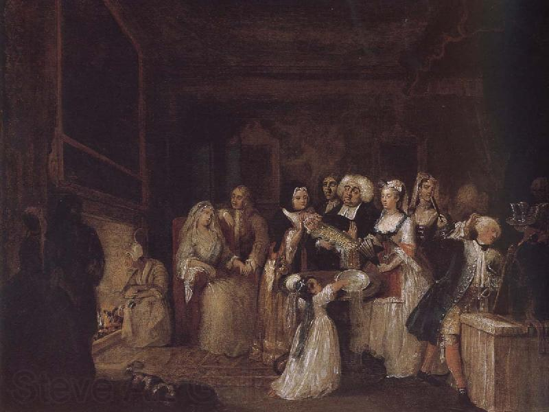 William Hogarth Baptism ceremony
