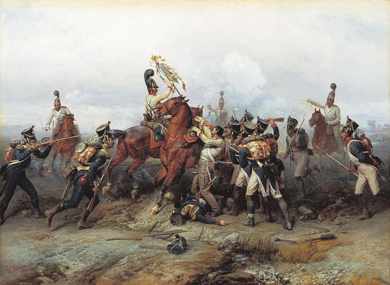 Bogdan Villevalde Feat of Cavalry Regiment at the battle of Austerlitz in 1805.