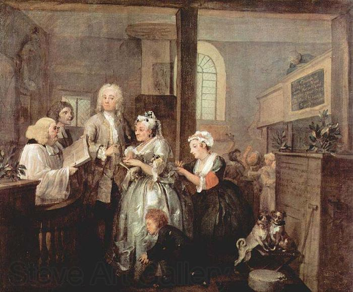 William Hogarth A Rake's Progress - Marriage
