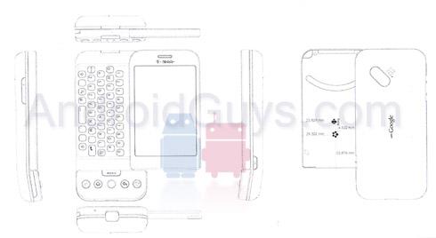 HTC Dream G1 scale mockup reveals design