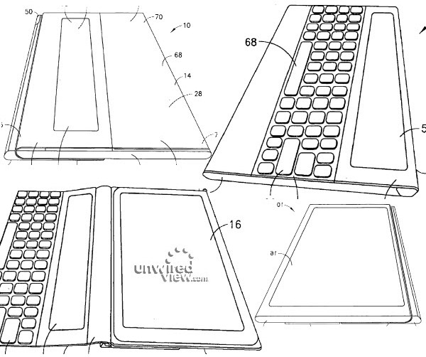 Nokia's patent shows tablet with integrated physical