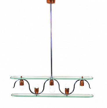 Il lampadario a gocce, di vetro o di cristallo, è un oggetto che riesce ad. Lampadario In Rame E Cristallo Anni 50 Intondo