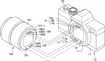 Nikon duplicated electronic mount contacts Nikon patents for illuminated F mount, duplicated electronic mount contacts and hybrid viewfinder