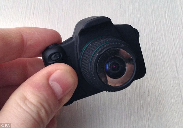 Miniscule: The student's tiny camera measures just over 4cm long and 2cm high, but still produces expensive-looking photographs