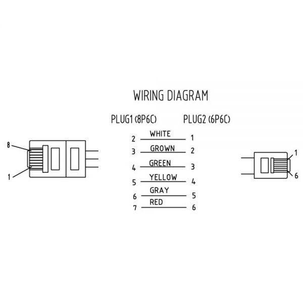 usb 3 0 cable wiring diagram giant panda food web inline® modularkabel, rj45 zu rj12 stecker / stecker, 6adrig, 3m   rj10/11/12/45 modularkabel ...