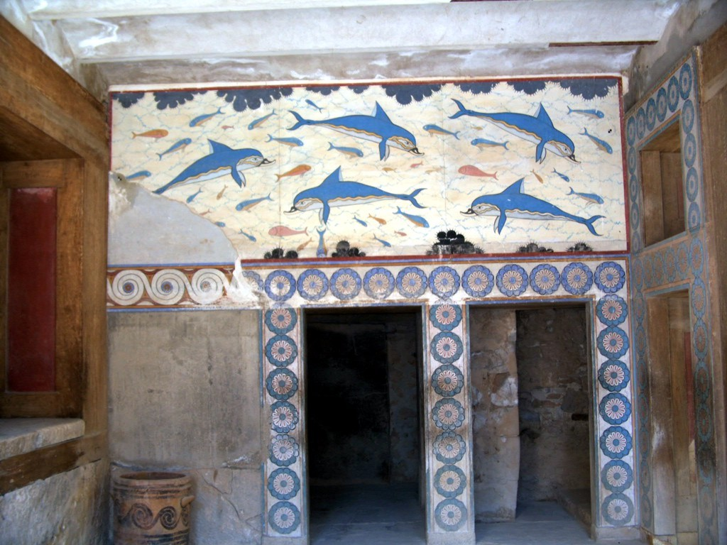 Delfini di Cnosso a Creta - Dolphins of Knossos to Creta - extract from Wikipedia - intotheblue.it