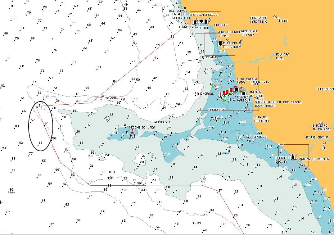 "carta nautica ""Sperone di Fuori"" - ""Sperone"" reef external promontory nautical chart - intotheblue.it"