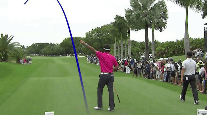 Bubba Watson slices a drive